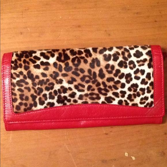 tusk Handbags - Tusk wallet animal print red leather